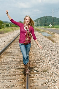 013 Shanna McCoy Senior Shoot - Train Tracks