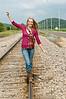 013 Shanna McCoy Senior Shoot - Train Tracks