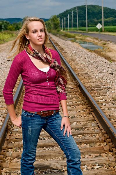 002 Shanna McCoy Senior Shoot - Train Tracks (brill-warm)