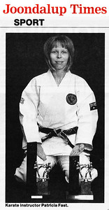 Sensei Patricia Fast 4th Dan Combat Karate State Open All Styles Champion In Kata & Kumite Western Australia & UK NAKMAS European Open All Styles Champion