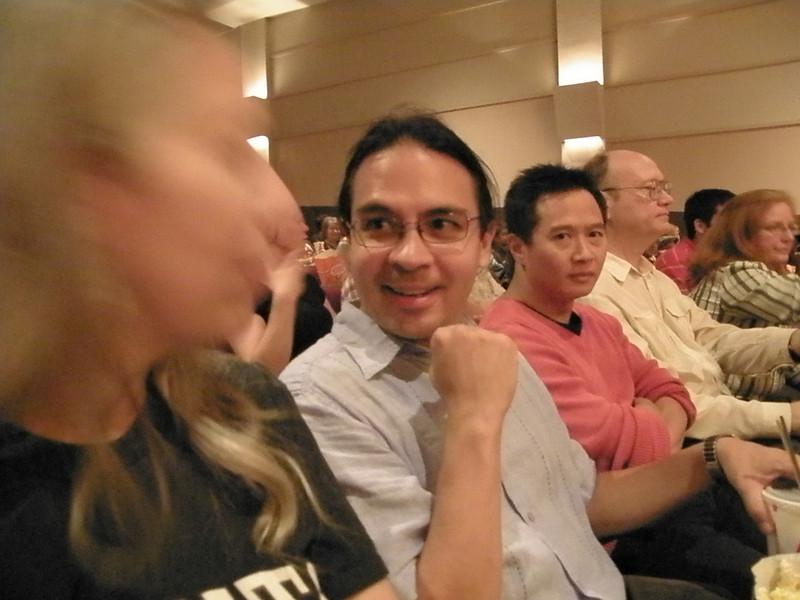 "At ""Holy Adam West Batman!"" (2010, Toronto): Blur, Jason, Tran, Don, some lady."