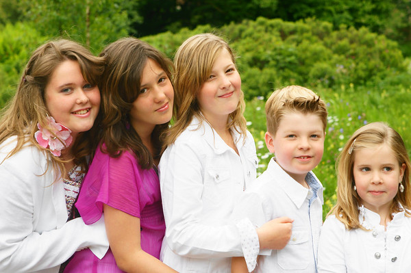 Serie Family in white and pink / Familie in wit en rose