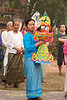 Shan Women Bearing Offerings, Maehongson, Thailand