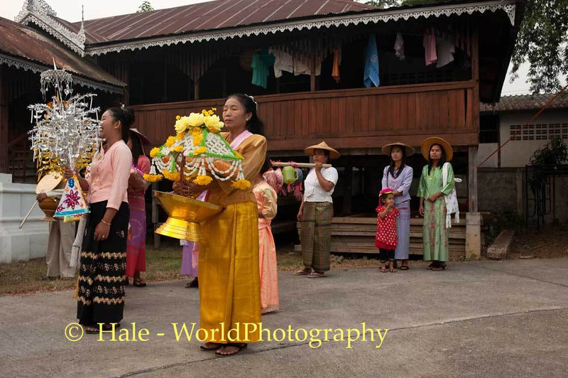 Shan Women Await Start of Morning Procession