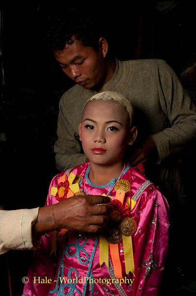An Older Brother Dresses A Jeweled Prince In Maehongson, Thailand