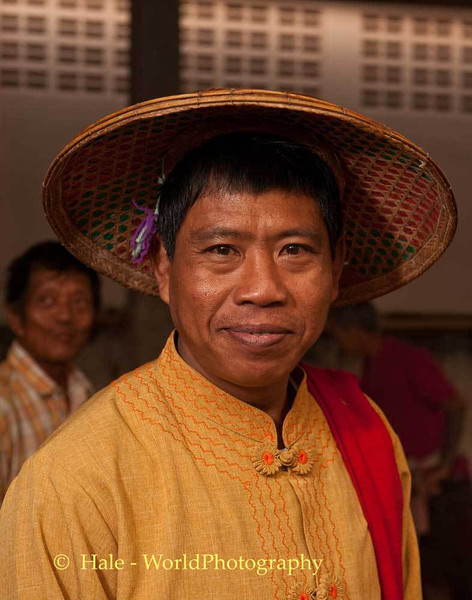 A Shan Man In Traditional Clothing