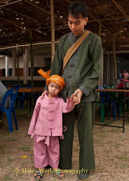 Father and Son In Traditional Clothing