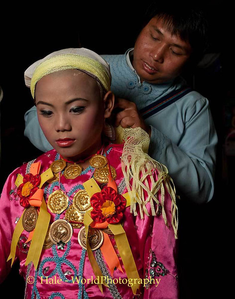 A Traditional Shan Head Covering Being Set