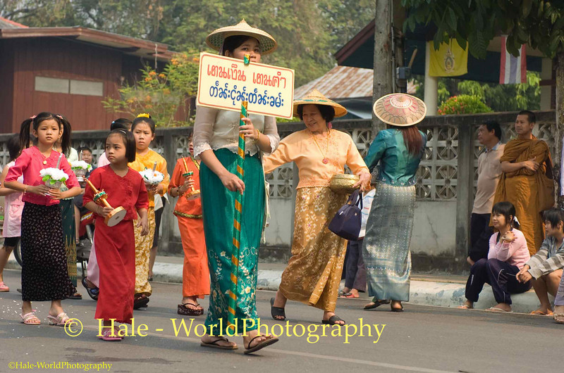 Poi Sang Long Parade Through Maehongson, Thailand