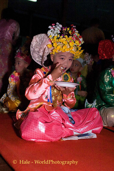 Sang Long (Jeweled Prince) at Wat Jong Kum - Jong Klang Eating His Breakfast