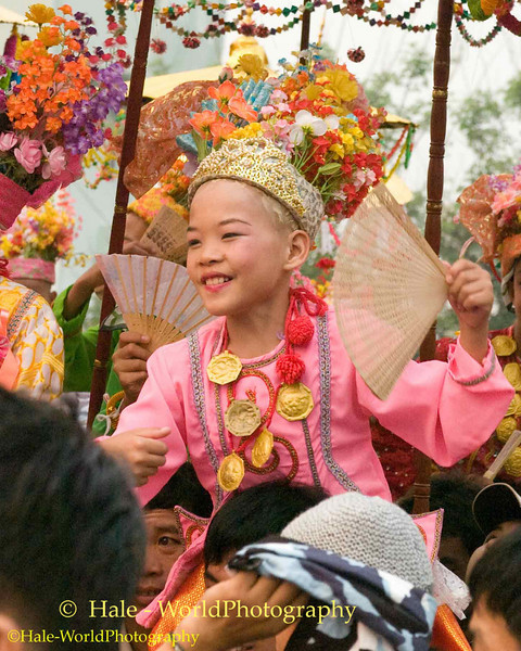 Jeweled Prince (Sang Long) Parades Through Maehongson, Thailand