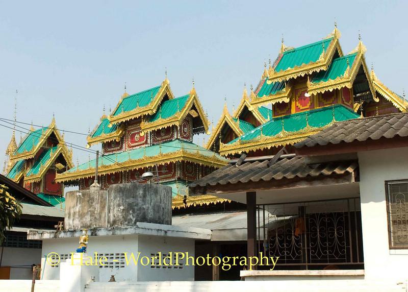 Shan (Thai Yai) Architecture - Wat Jong Kum-Jong Klang, Maehongson, Thailand