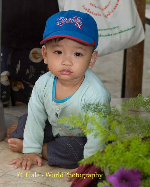 Little Boy Watching Poi Sang Long Procession, Maehongson, Thailand