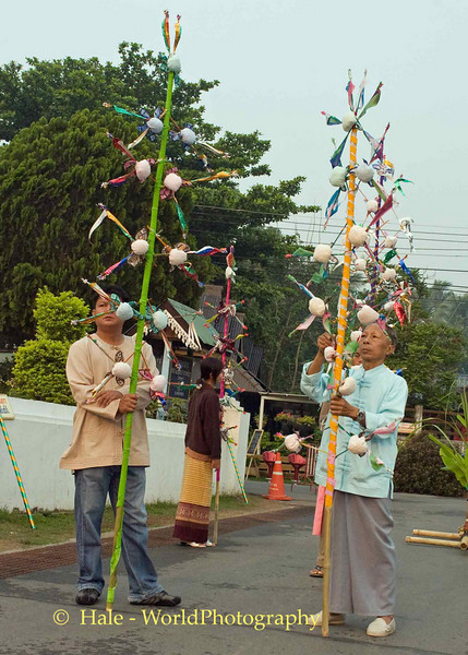 Shan Elders Preparing For Parade During Poi Sang Long Festival, Maehongson, Thailand