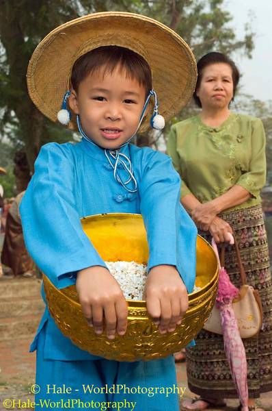 Shan Boy Carrying Offerings Through Maehongson During Poi Sang Long Festival