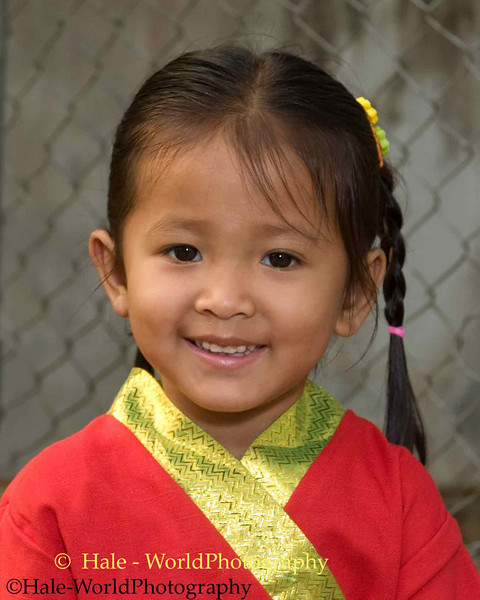 Young Shan Girl Smiling During Poi Sang Long Festival, Maehongson, Thailand