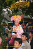 Jeweled Prince and His Bearers Prepare for Procession through Maehongson, Thailand