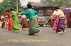 Shan Women Performing Traditional Dance During Procession Through Maehongson, Thailand