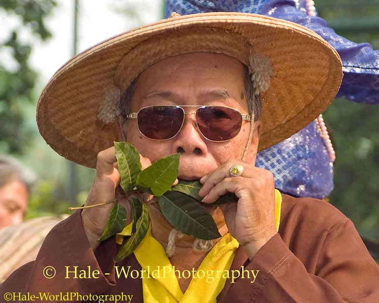 Shan Elder Leaf Blowing to Make Music, Poi Sang Long Festival, Maehongson, Thailand