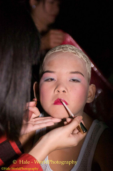 Young Shan Boy Being Made Up to be a Sang Long (Jeweled Prince)