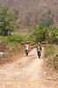 Workers Hauling Garlic In Maehongson Province