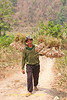 Shan Man Hauling Garlic to Collection Point Along Highway