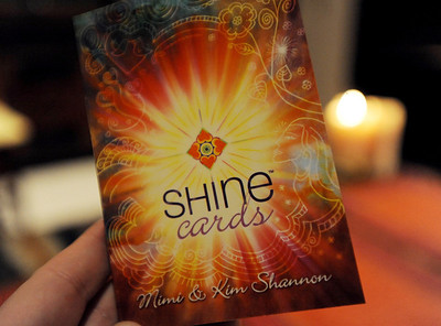 There are definitions of the Shine Cards in this book, written by Mimi and Kim Shannon. Mimi Shannon and her daughter, Kim, run a monthly woman's group called the Shine Sisters' Circle, using the Shine cards to unlock women's inner creativity, strength and deep desire to be who they are. For more photos of the group, go to www.dailycamera.com. January 5, 2012 / Cliff Grassmick