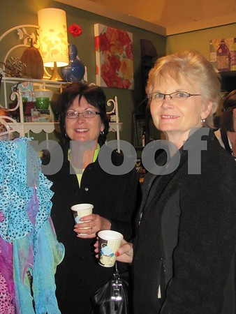 Marty Payne and Barb Lynn browsing in 'Design Two' on 'Girls Night Out'.