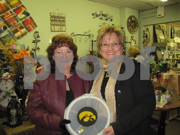 Kaye Miklo and Kay Sharf at 'Mary Kay's'.