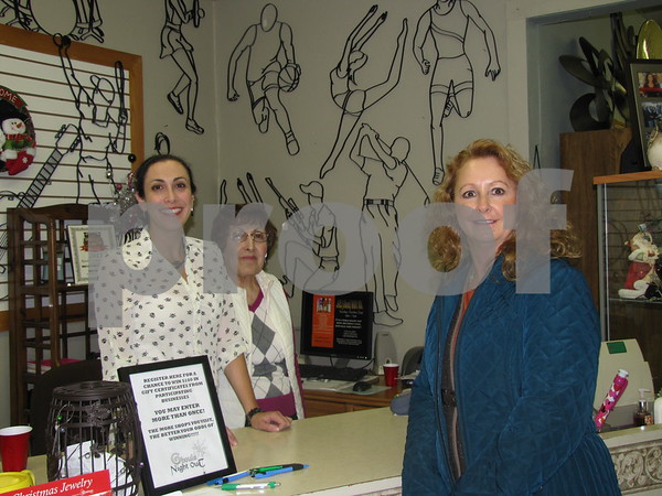 Mary Kay Daniel, Margo Daniel, and Pam Shelton at 'Mary Kay's Gifts'.