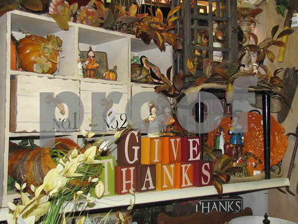 Thanksgiving decor at 'Real Deals'