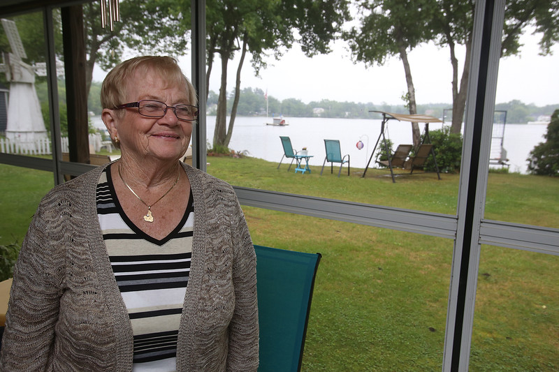 Former Wilmington town clerk Patti Ward, a longtime resident on the shore of Silver Lake. (SUN/Julia Malakie)