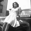Woman on Hood of Car (01849)