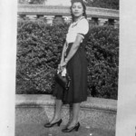 Woman in front of a Balustrade (03925)