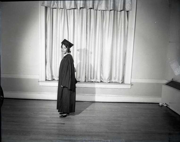 Woman in Graduation Gown (03744)