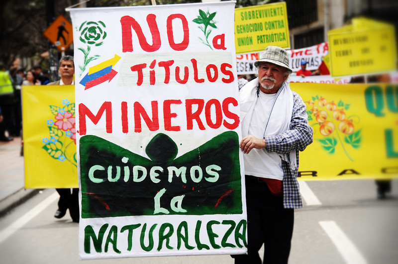 Last year, a planned mining project that would have threatened the Santurban highlands (Santander) brought social organisations and environmentalists together to lead a movement that rejected the plan´s implementation.  The legal actions taken as well as the mobilisation of thousands of people succeeded in halting Canadian company Greystar from moving forward with its gold extraction project.<br /> Photo: Leonardo Villamizar