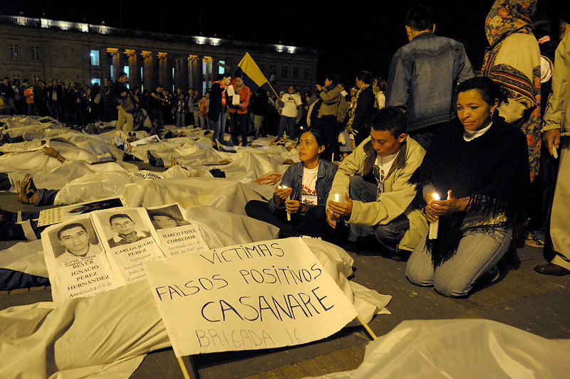 The National Movement for Victims of State Crimes (MOVICE) emerged as a part of an investigative project called Colombia Never Again that documented crimes against humanity.<br /> Photo: Damien Fellous/librearbitre.