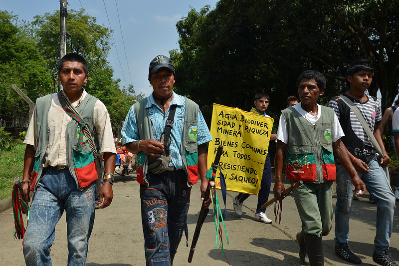 According to human rights defender and forensic anthropologist Berenice Celeyta, another significant movement is the Peoples' Congress that emerged as the minga of social and communitarian resistance.    In Colombia, minga is an indigenous word that describes social movement and resistance.<br /> Photo: Julian Montoni