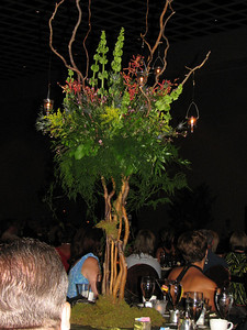 One of the beautiful centerpieces at the Farewell dinner and dance.