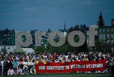 WA State Vietnam Memorial dedication on May 25, 1987, Olympia, WA.