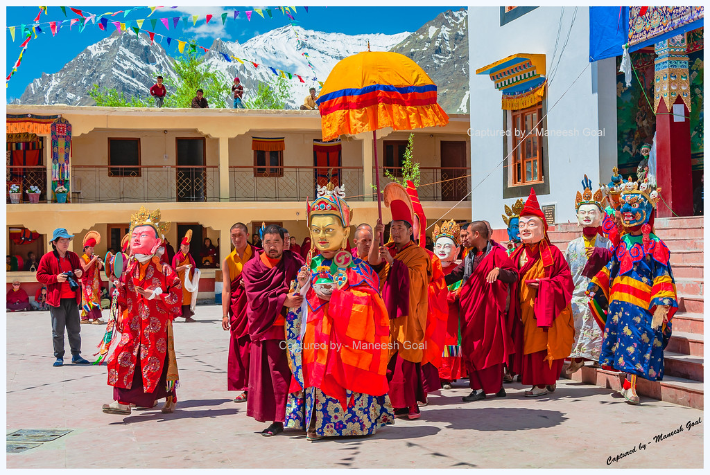 Ceremonial procession @ Kungri Gompa (Pin Valley), Spiti (Himachal Pradesh)
