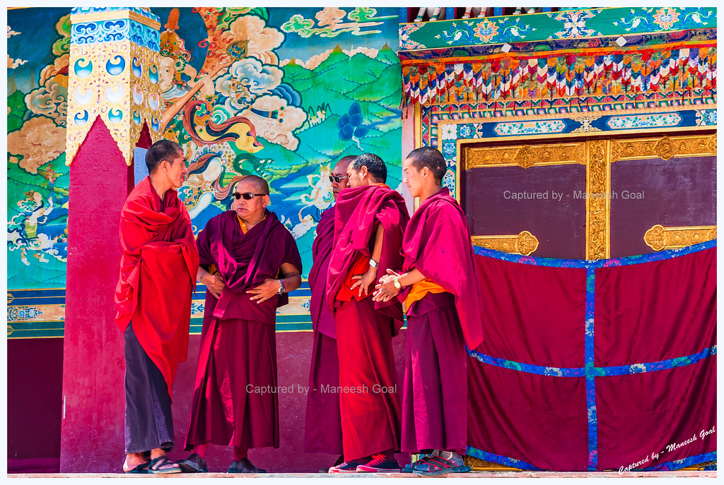Monks' Conference @ Kungri Monastery (Pin Valley) Festival - Cham Dance Performance