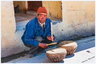 Kungri Monastery (Pin Valley) Festival - Drummer @ Cham Dance Performance