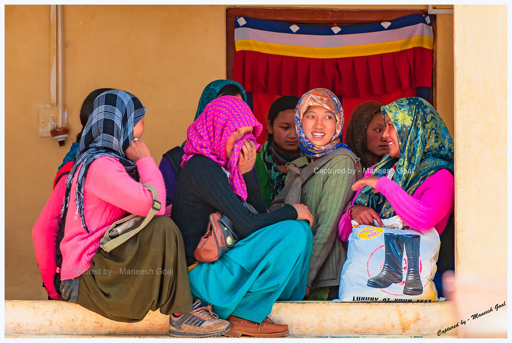 Giggling Spitian Girls @ Kungri Monastery (Pin Valley) Festival