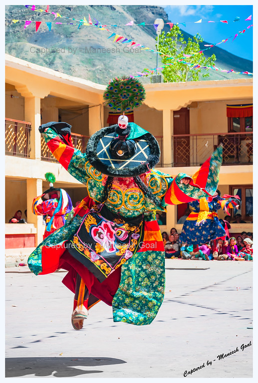The Flying Lama @ Kungri Monastery (Pin Valley) Festival - Cham Dance Performance