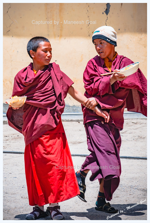 Young Monks in a Playful Mood @ Kungri Monastery (Pin Valley) Festival
