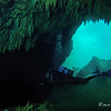 Diver Jean enters the 2nd cave of Tangue Azul