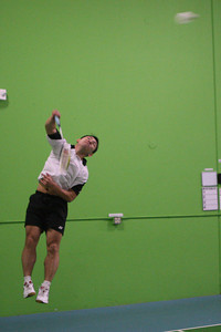 Howard bach puts on a clinic during the US Badminton Championship held at Golden Gate Badminton Club.  He will be representing the United States at the Summer Olympics this year.