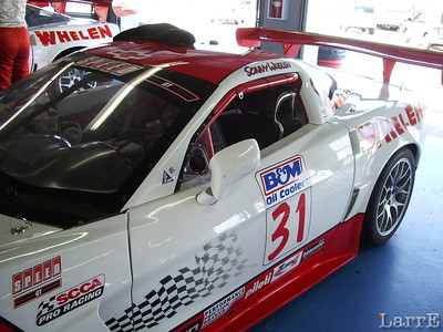 The #31 Whelen Corvette of Sonny Whelen
