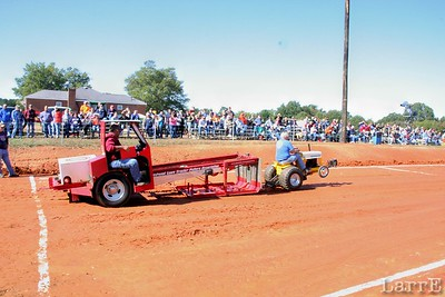 Now we're at the Lancaster, SC tractor pull.  A lawn tractor pulls the heavy sled